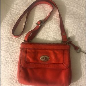 Handbag Fossil Red Crossbody.